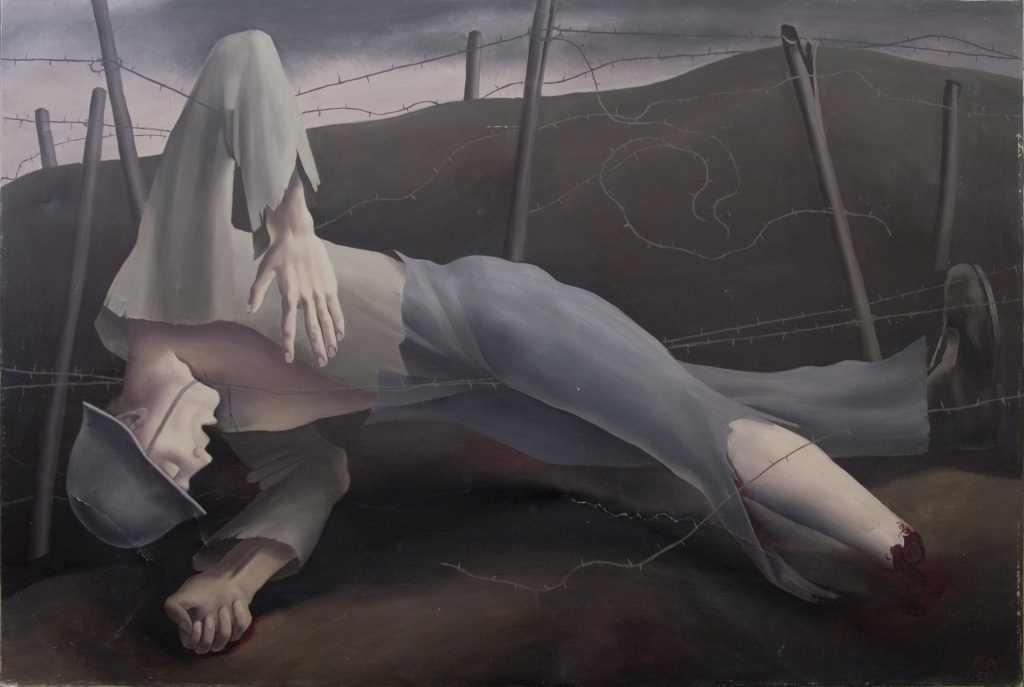 Robert Angerhofer, Dead soldier in Barbed wire, 1920