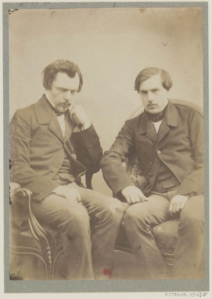 Félix Nadar, Les frères Goncourt, vers 1855