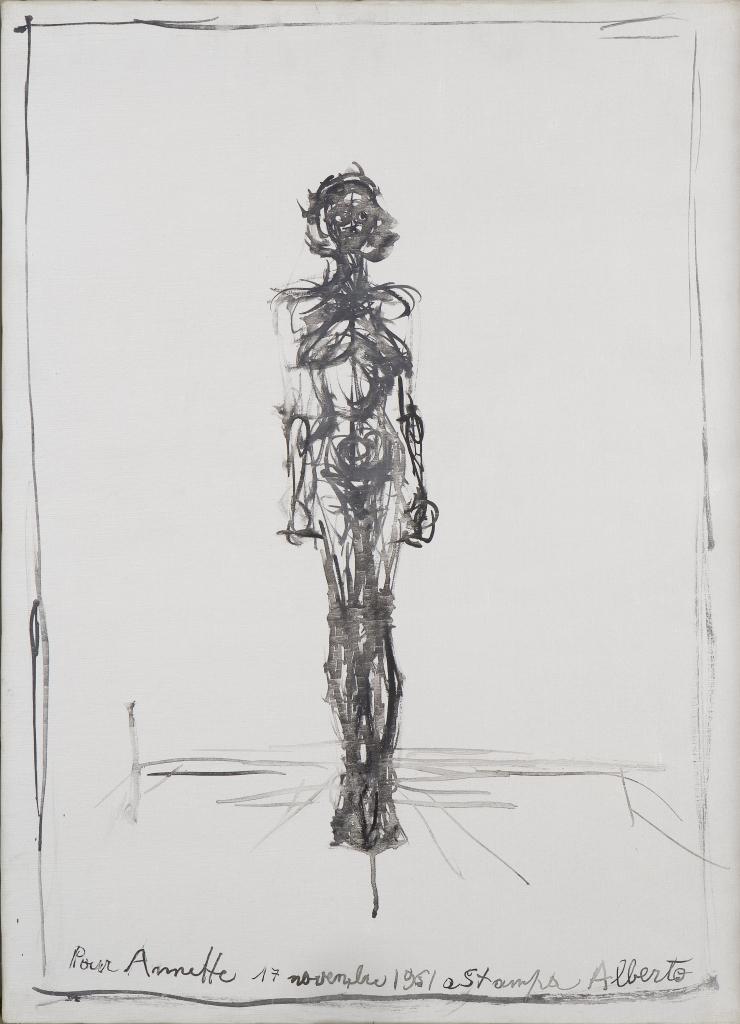 Alberto Giacometti, Nu debout (Annette), 1961