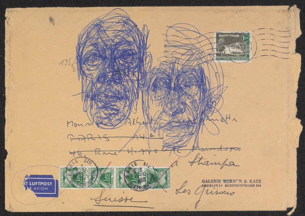 Alberto Giacomett, Tête de la Mècre et tête de l'homme, vers 1963