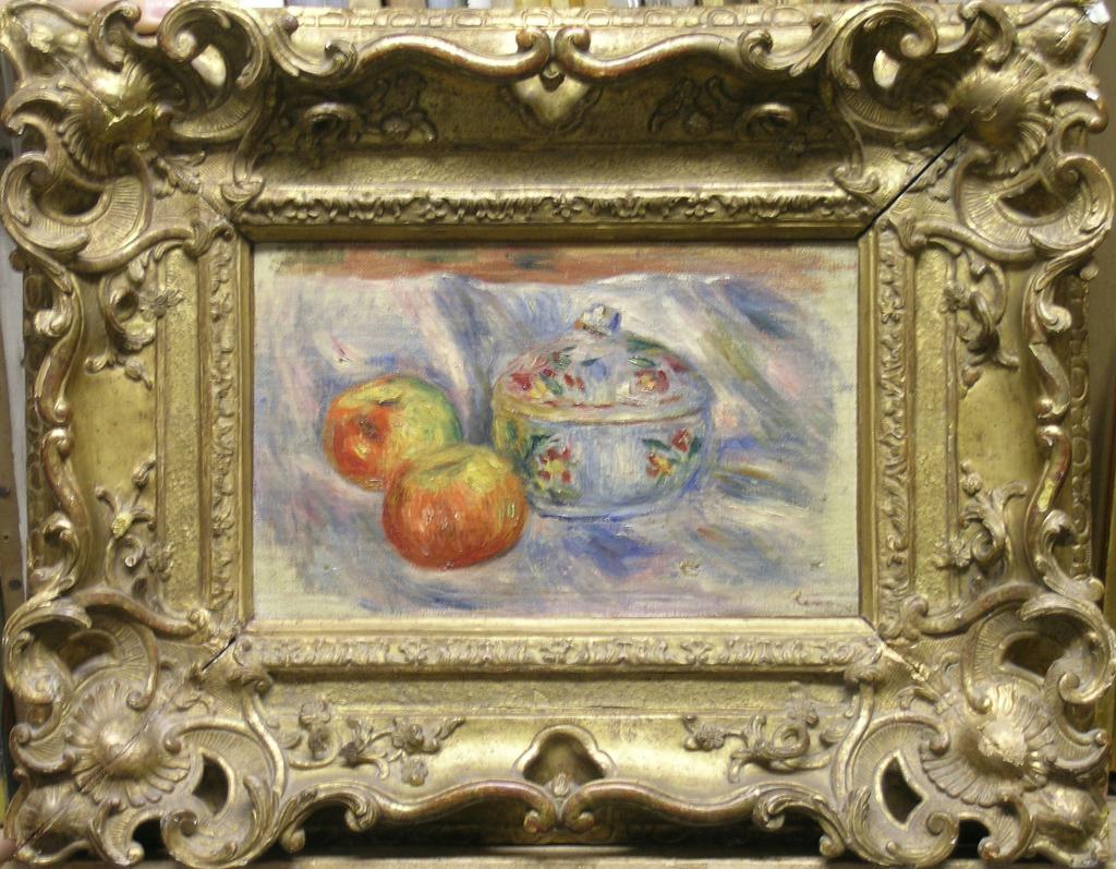 Auguste Renoir, Nature morte (soupière et 2 pommes)