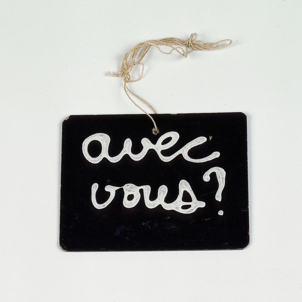 Ben (Benjamin Vautier dit), (Sans titre), 1970 - Vingt-quatre heures de la vie d'une femme au MAMC Saint-Etienne