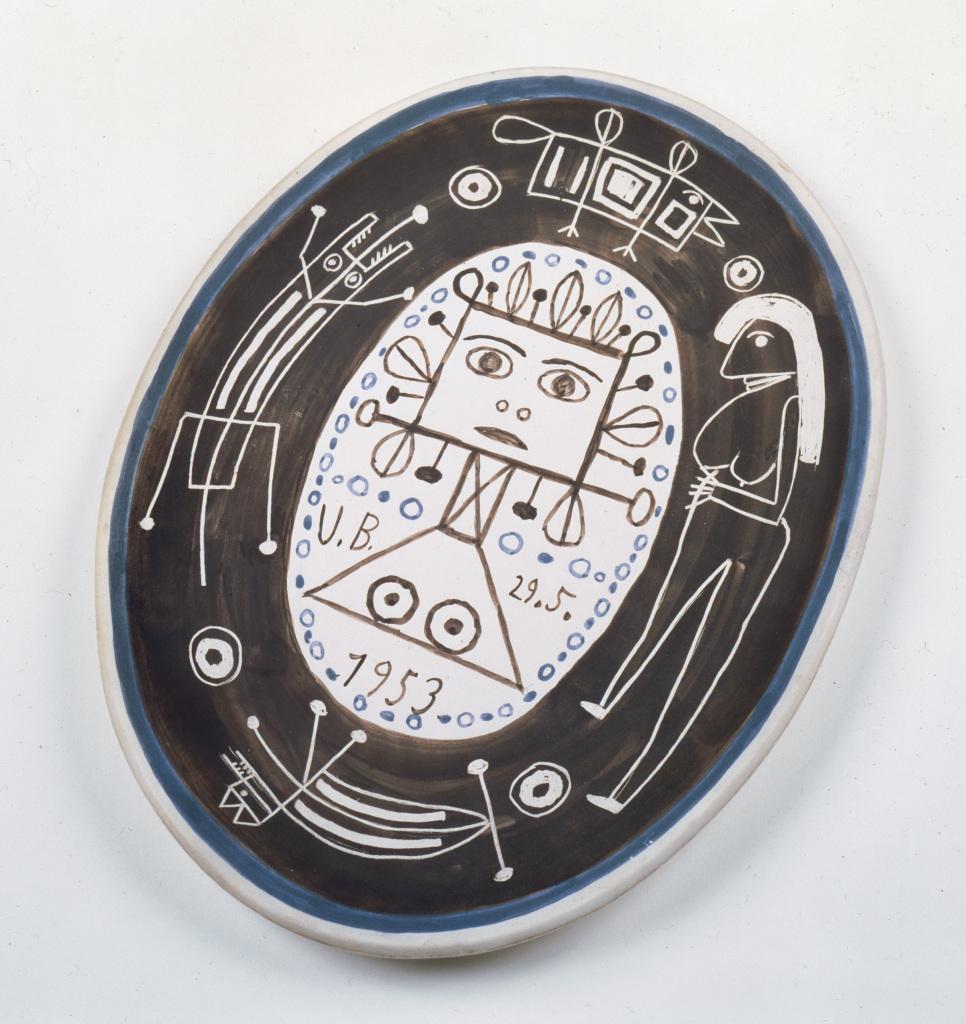 Victor Brauner, Céramique, 29 mai 1953. - Vingt-quatre heures de la vie d'une femme au MAMC Saint-Etienne