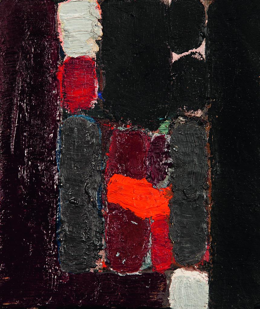 Jean-Michel Coulon, Huile sur toile, 1970