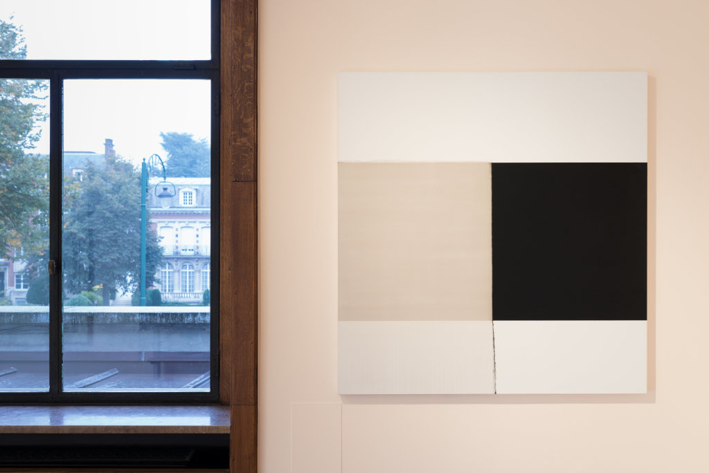 Callum Innes, Exposed Painting Lamp Black, 2004