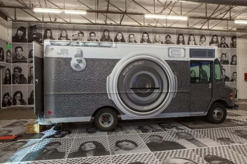 Camion de JR, inside out project
