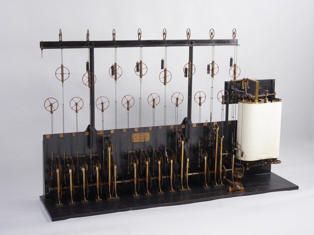 """Machine à prédire la marée : """"Tide predictor N·3"""", 1881 Kelvin Lord William Thomson 1824-1907, Physicien, Grande Bretagne Londres James White , Constructeur, Grande Bretagne Glasgow Hydrographie / Calcul / Mesure"""