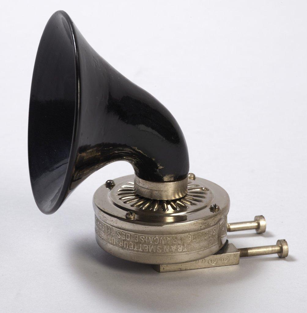 Microphone système Berliner Construit par la Société française des téléphones, 1902