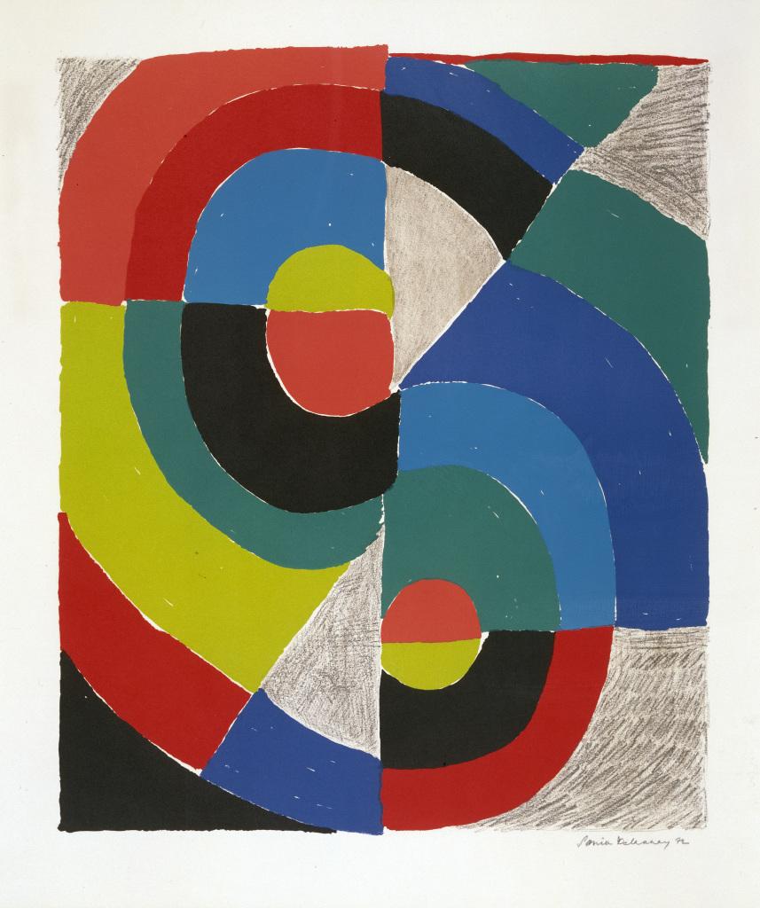 Sonia Delaunay, Fabbri, 1972. - Vingt-quatre heures de la vie d'une femme au MAMC Saint-Etienne