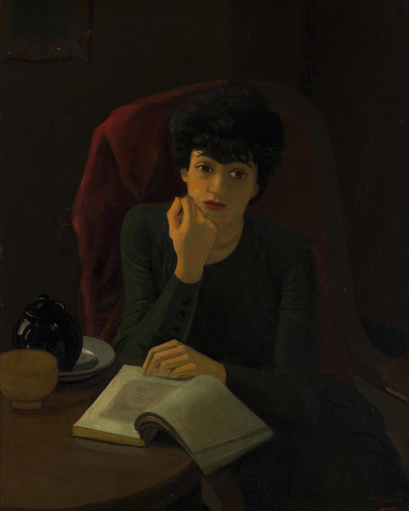 André Derain, La tasse de thé, vers 1935. - Vingt-quatre heures de la vie d'une femme au MAMC Saint-Etienne