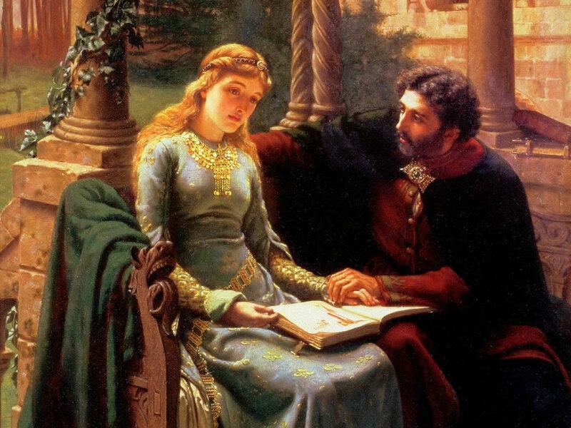 Edmund Blair Leighton, Abelard and his pupil Heloise