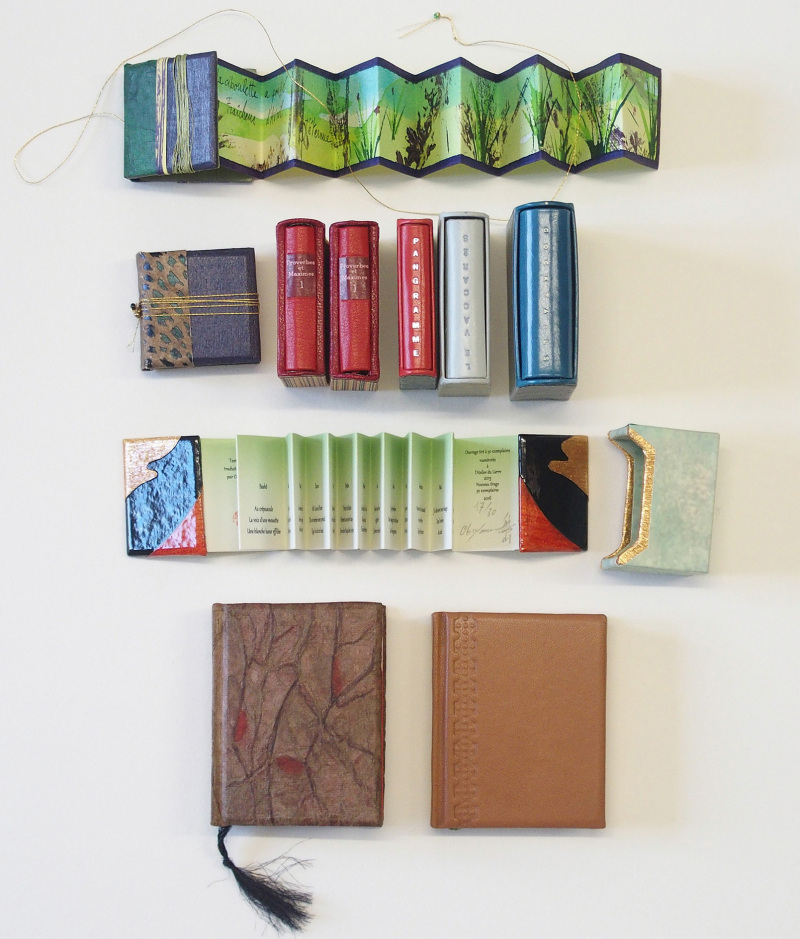 ensemble de très petits livres  circa 4 x 4 cm (c) Mini Ma