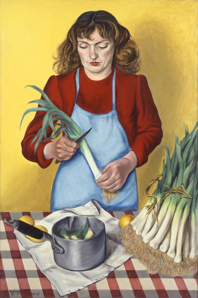 André Fougeron, Femme épluchant des légumes, 1948-1949. - Vingt-quatre heures de la vie d'une femme au MAMC Saint-Etienne