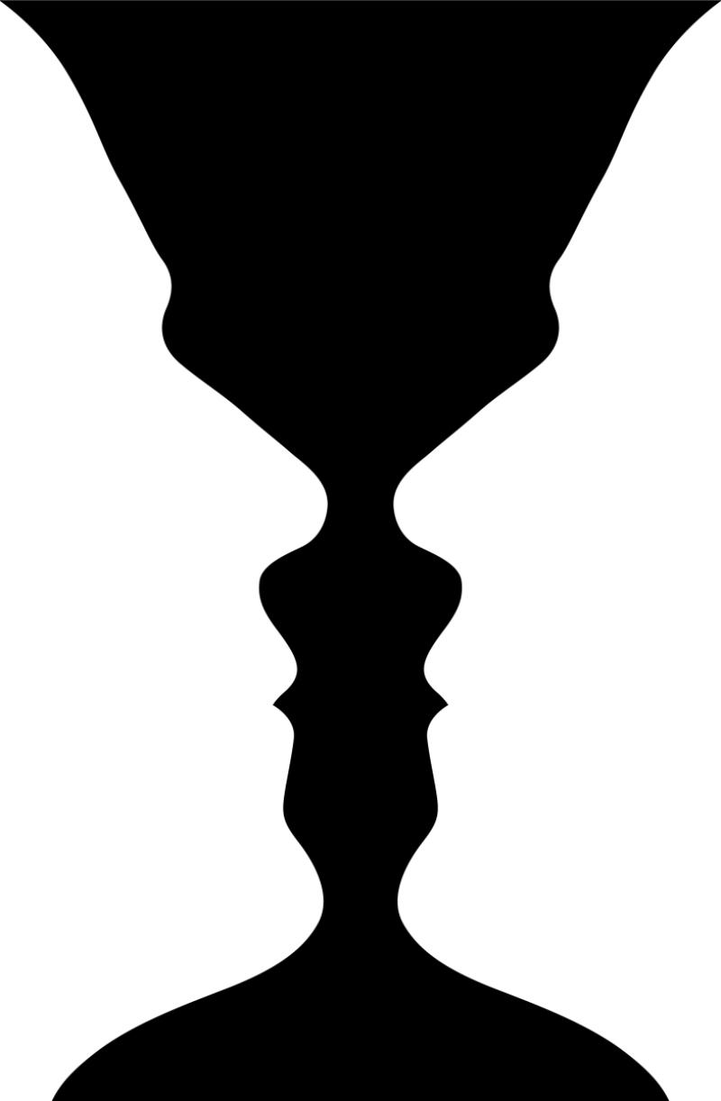 Illusions des verres aux visages