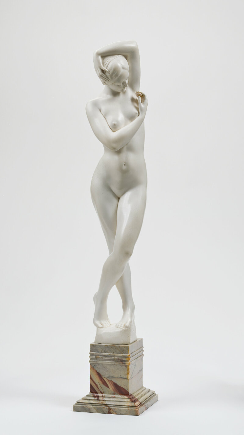 """""""Le Premier Bijou"""" ou """"La Femme à la Perle"""" Philippe Wolfers (1858-1929) Belgique 1907"""