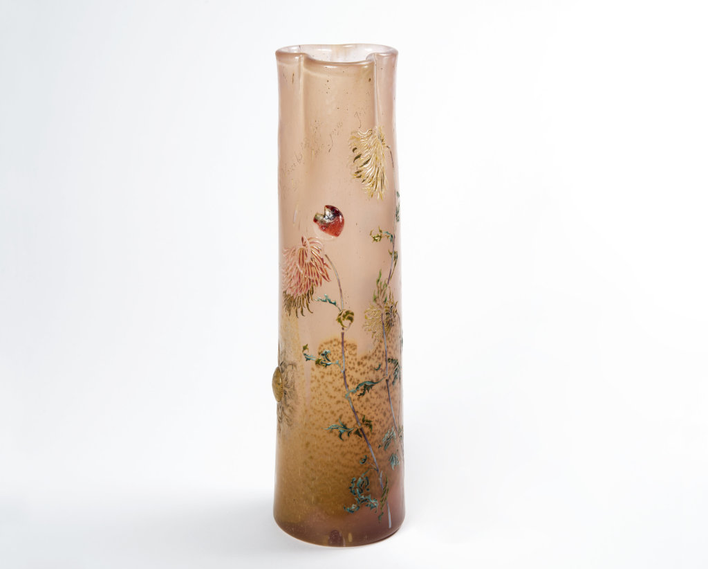 """Vase parlant """"Voici les froids, Chérie. Et les derniers beaux jours"""" Emile Gallé (1846-1904) France 1893"""