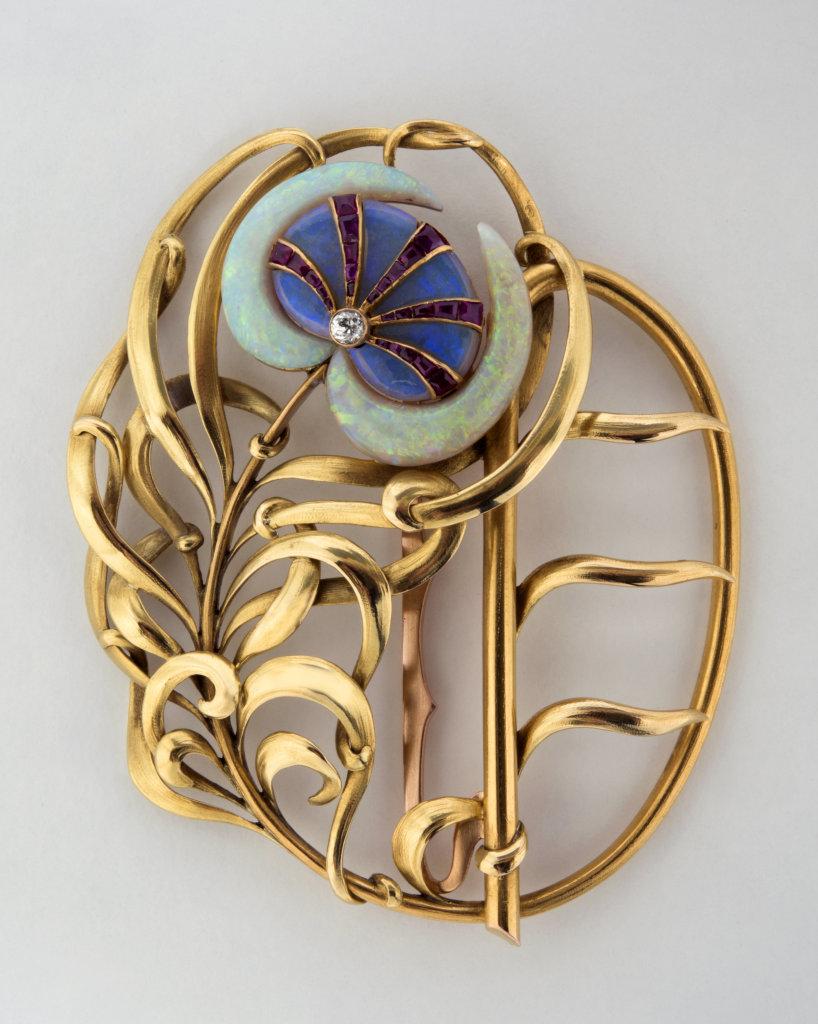 """Boucle de ceinture """"Plume de Paon"""" Philippe Wolfers (1858-1929) Belgique 1898"""