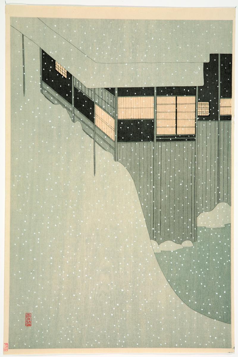 Komura Settai, Matin neigeux, c. 1924