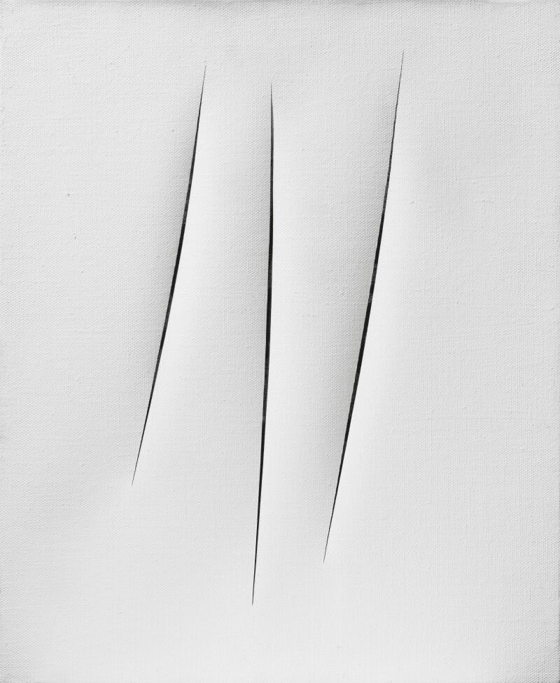 Lucio Fontanta, Concetto spaziale, Attese, 1967 © Courtesy Tornabuoni