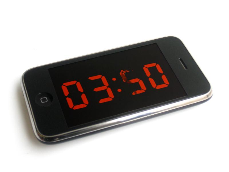 Maarten Baas, Analog Digital iPhone App, 2009, Real Time.