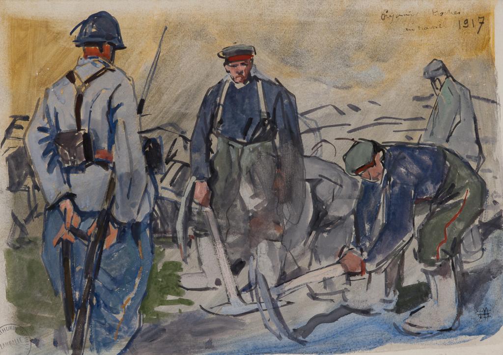 Mathurin Méheut, Prisonniers boches au travail