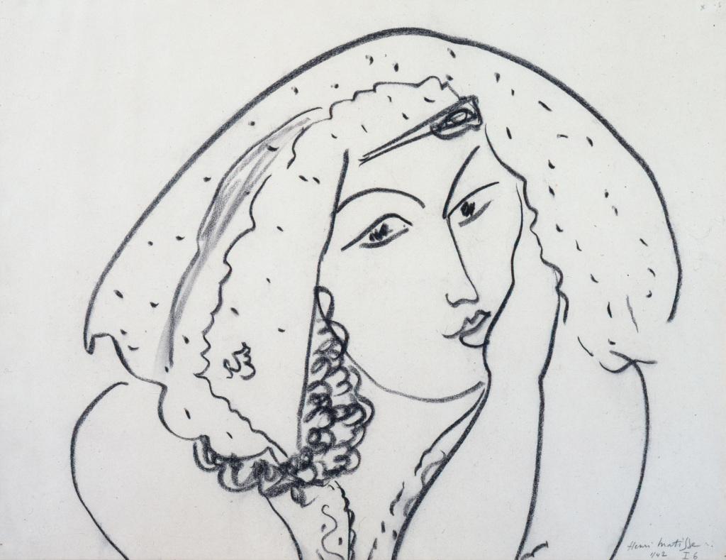 Henri Matisse, Thème I Variation 6, janvier 1942. - Vingt-quatre heures de la vie d'une femme au MAMC Saint-Etienne