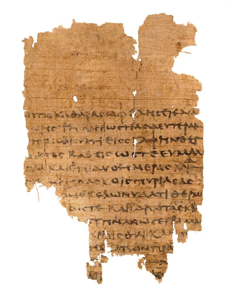 Papyrus avec texte médical