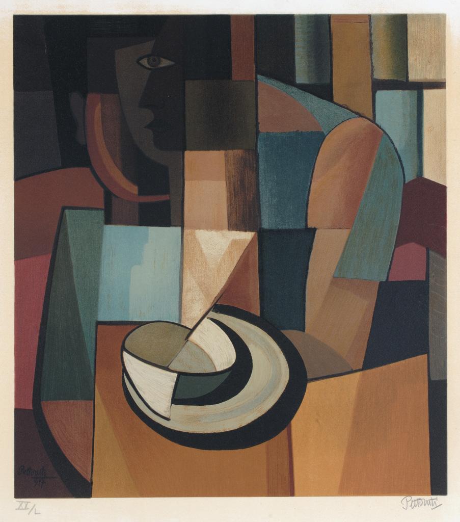 Emilio Pettoruti, Femme au café, XXe siècle. - Vingt-quatre de la vie d'une femme au MAMC Saint-Etienne