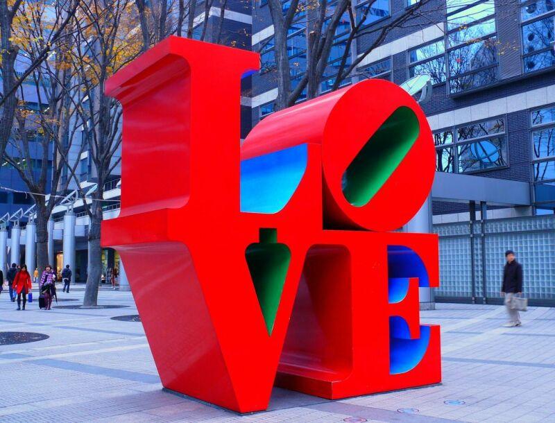 Robert Indiana, Love, 1966-1995
