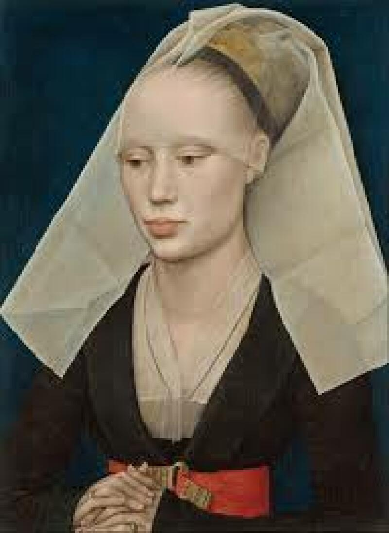 Rogier van der Weyden, Portrait of a Lady, c. 1460, (c) National Gallery of Art, Washington, D.C. 34 × 25.5 cm (13 × 10 in)