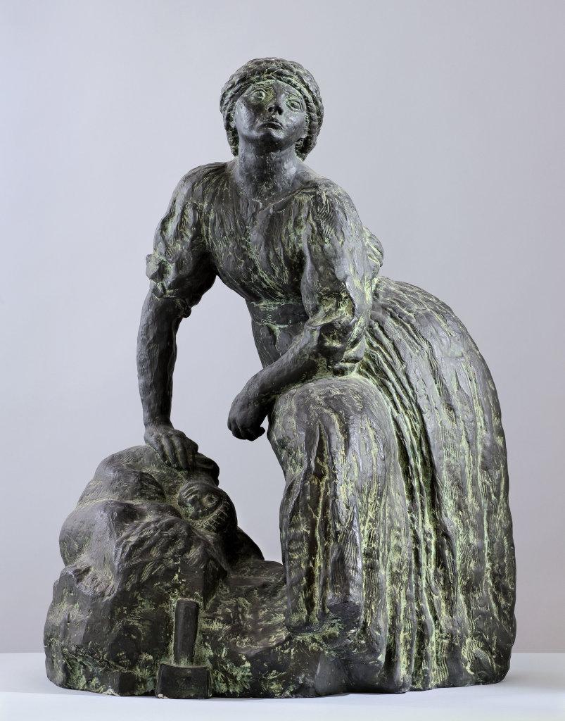 Femme sculpteur au repos, vers 1905