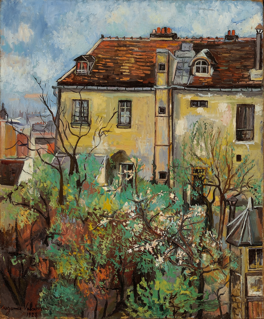 Suzanne Valadon, Le jardin rue Cortot, 1928