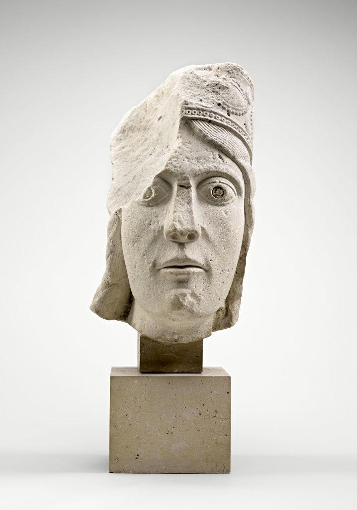Tête de statue-colonne, la reine de Saba