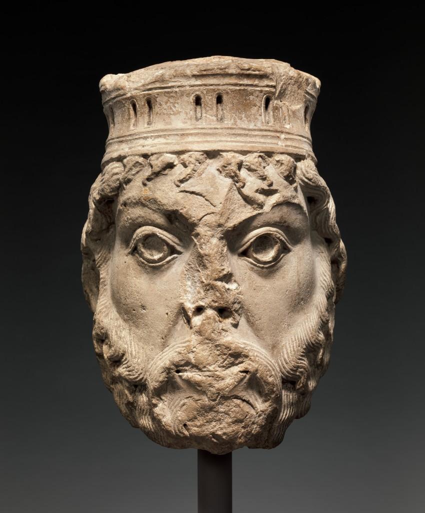 Tête de statue-colonne - le roi David