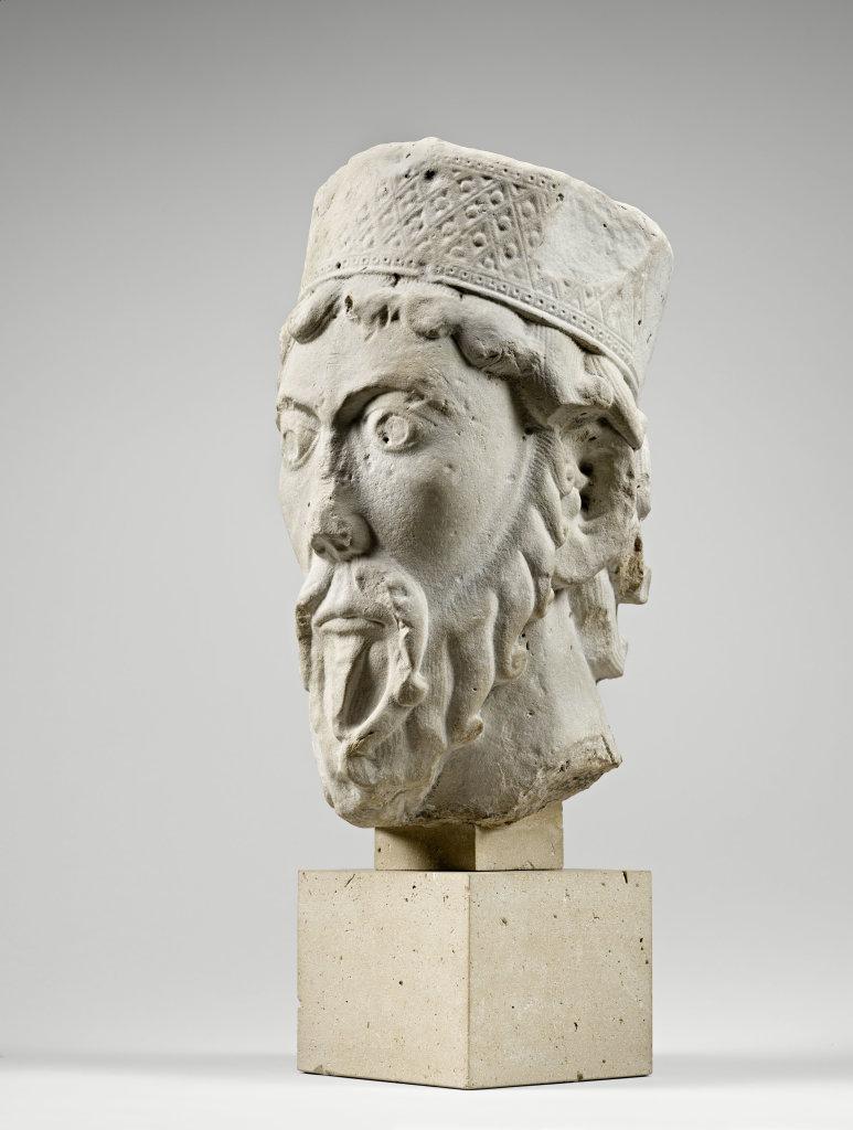 Tête de statue-colonne - Moïse