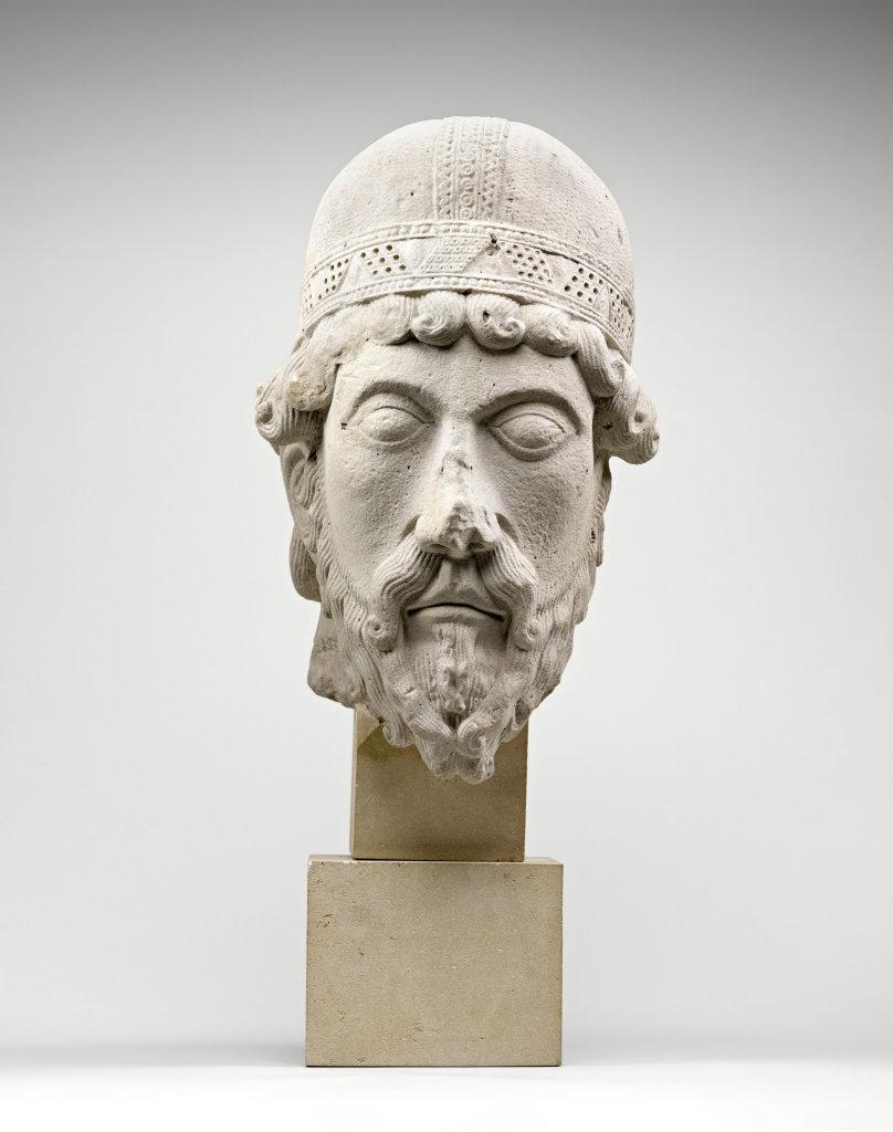 Tête de statue-colonne, un prophète