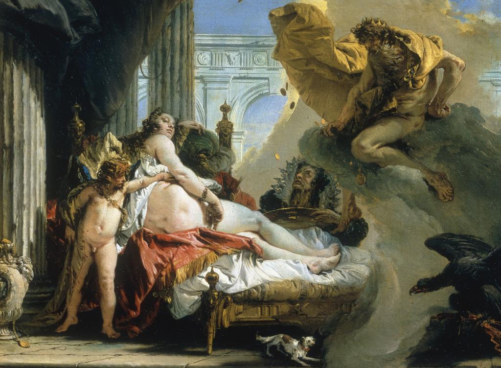 G. B. Tiepolo, Jupiter et Danaé