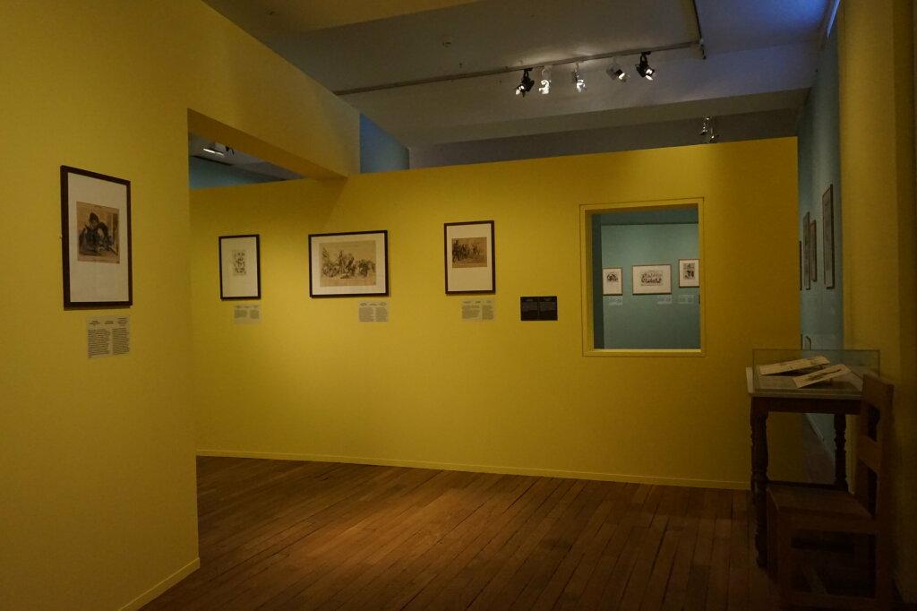 Vue de l'exposition Caricatures - Maison Victor Hugo