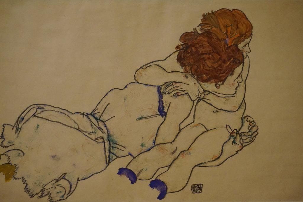 Vue de l'exposition Egon Schiele - Fondation Louis Vuitton (1)