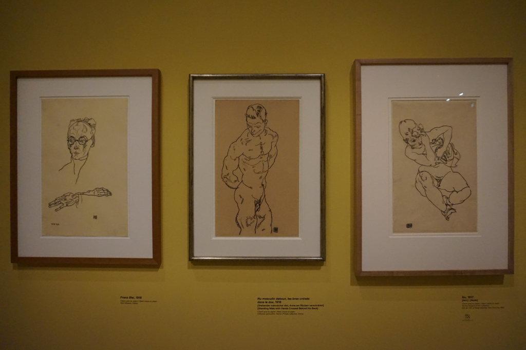 Vue de l'exposition Egon Schiele - Fondation Louis Vuitton (7)