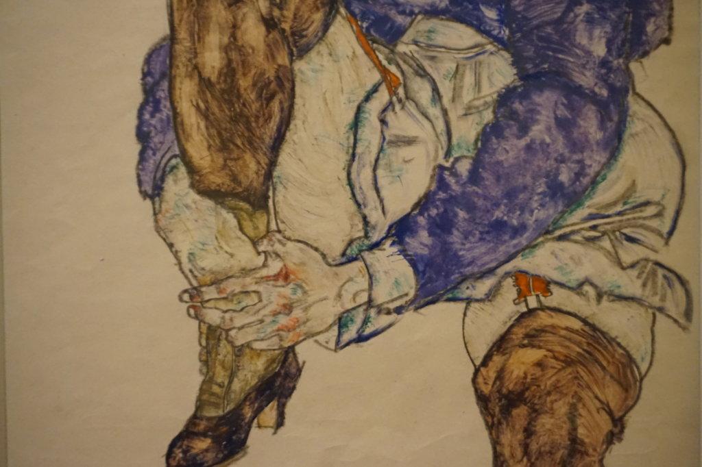 Vue de l'exposition Egon Schiele - Fondation Louis Vuitton (74)