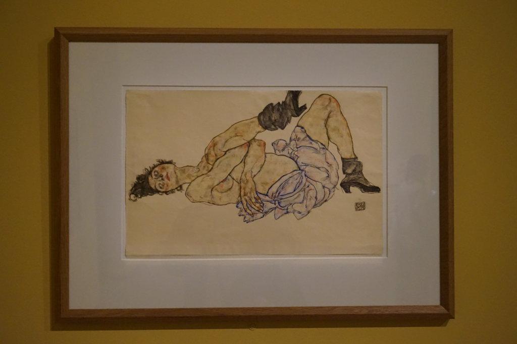 Vue de l'exposition Egon Schiele - Fondation Louis Vuitton (75)