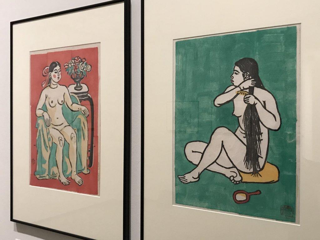 Vue de l'exposition Estampes japonaises - Fondation Custodia