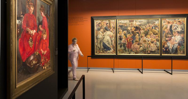 Vue de l'exposition Léon Frederic, un autre réalisme - Musée Courbet
