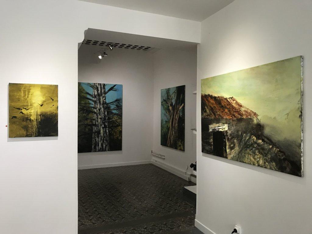 Vue de l'exposition Pierre-Luc Bartoli,Paysages - Galerie Gare de Marlon