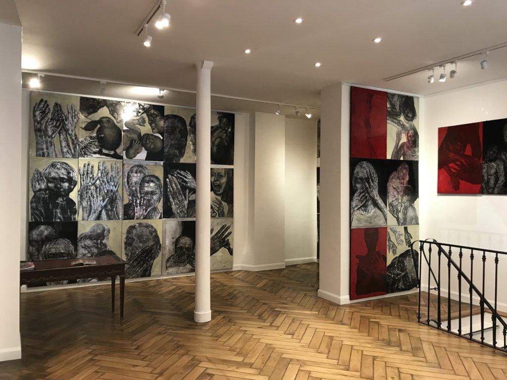 Vue de l'exposition Tijana Kojic, Syllogismes - Galerie Boris (1)