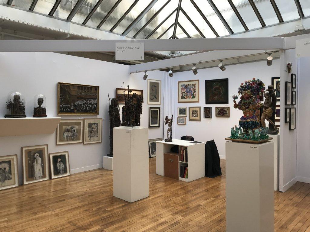 Vue du salon Outsider Art Fair 2018, à l'Atelier Richelieu (1)
