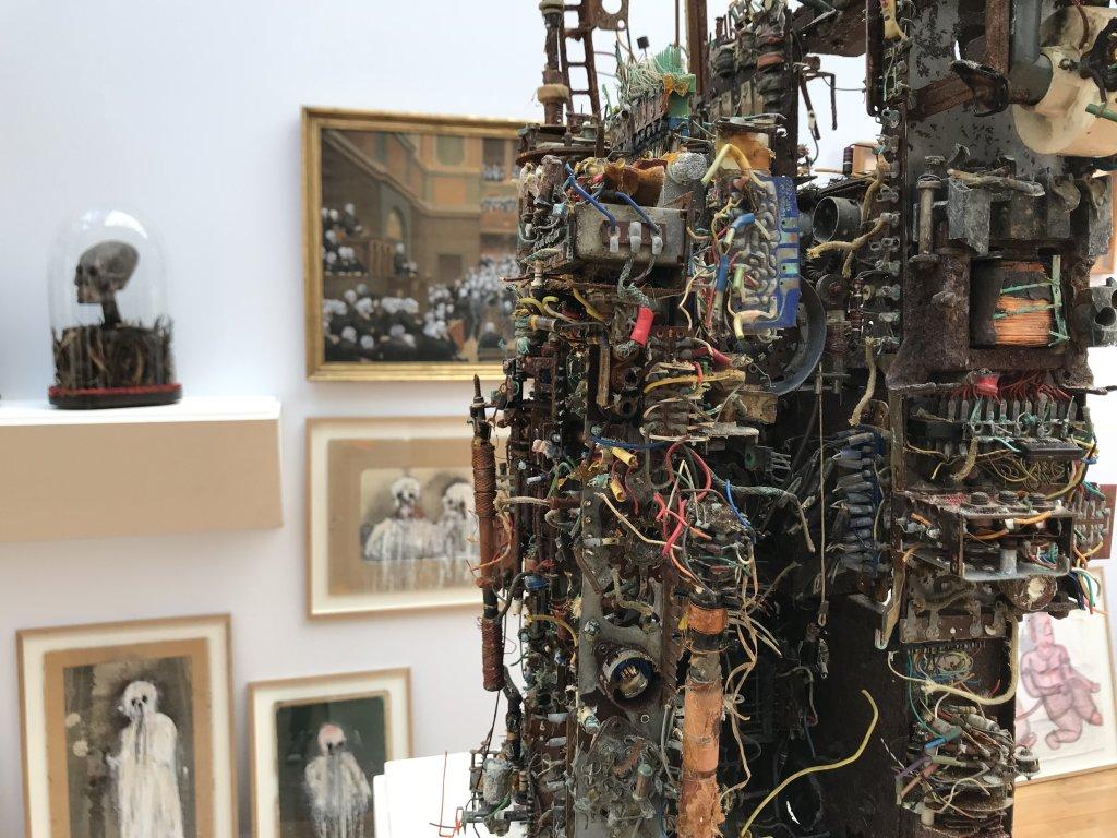 Vue du salon Outsider Art Fair 2018, à l'Atelier Richelieu (101)