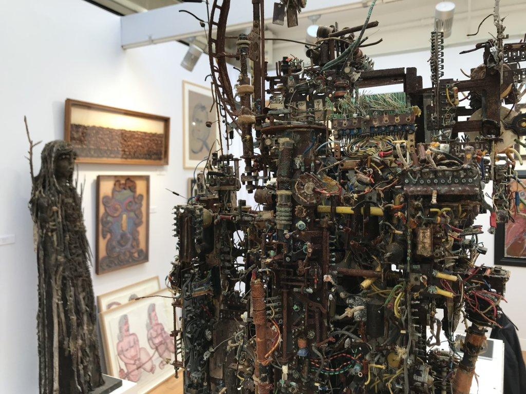 Vue du salon Outsider Art Fair 2018, à l'Atelier Richelieu (102)