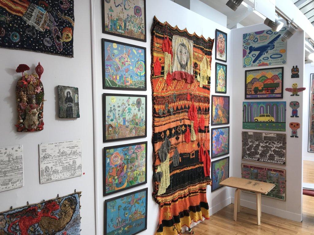 Vue du salon Outsider Art Fair 2018, à l'Atelier Richelieu (12)